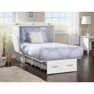 Nantucket Murphy Bed Chest Twin in White with USB Charging Station