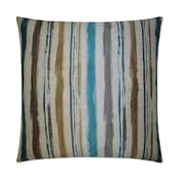 Van Ness Studio  Brunswick- Turquoise Down and Feathered filled 24 inch Decorative Throw Pillow