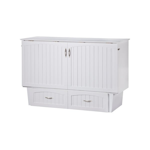 Nantucket Queen Murphy Bed Chest In White Free Shipping