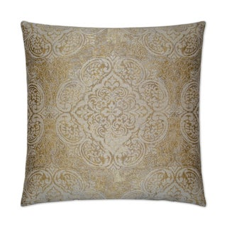 Van Ness Studio G Vogue- Gold Down and Feathered filled 24 inch Decorative Throw Pillow