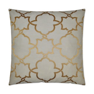 Van Ness Studio G Carlton- Gold Down and Feathered filled 24 inch Decorative Throw Pillow
