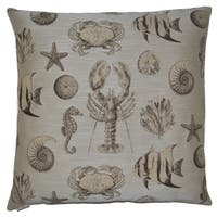 Van Ness Studio S Seafaring- Sand Down and Feathered filled 24 inch Decorative Throw Pillow