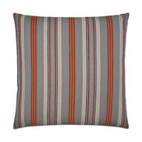 Van Ness Studio O Hambo- Orange Down and Feathered filled 24 inch Decorative Throw Pillow