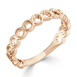 Auriya 10K Gold Petite Open Bubble Stacking Ring