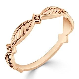 Auriya Women's 10K Gold Stackable Geometric Modern Anniversary Ring