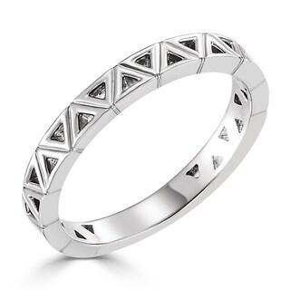 Auriya 10K Gold Petite Geometric Triangle Stacking Ring