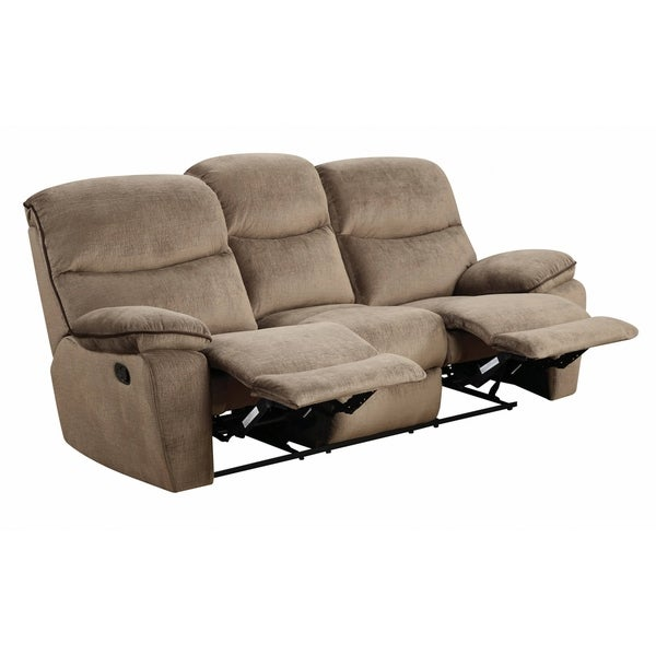 Peachy Lyke Home Brown Microfiber Reclining Sofa Squirreltailoven Fun Painted Chair Ideas Images Squirreltailovenorg