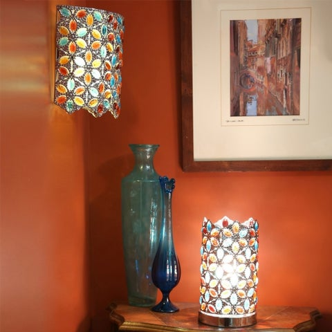 """Poetic Wanderlust by Tracy Porter 9.5""""H Cordless Wall Sconce w/ Remote"""