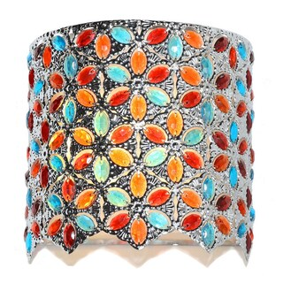 """Poetic Wanderlust by Tracy Porter 9.5""""H Cordless Wall Sconce w/ Remote (Option: Multi-color)"""