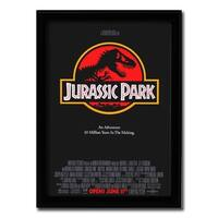 Framed Jurassic Park movie poster