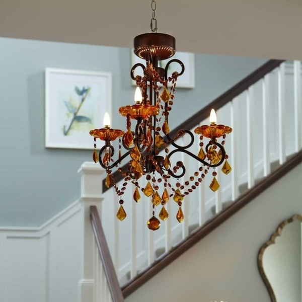 Shop 265 h amber 3 arm wireless chandelier with remote control 265 h amber 3 arm wireless chandelier with remote control aloadofball Image collections