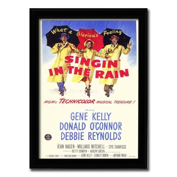Framed Singin' In The Rain movie poster