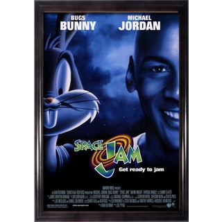 Framed Space Jam movie poster