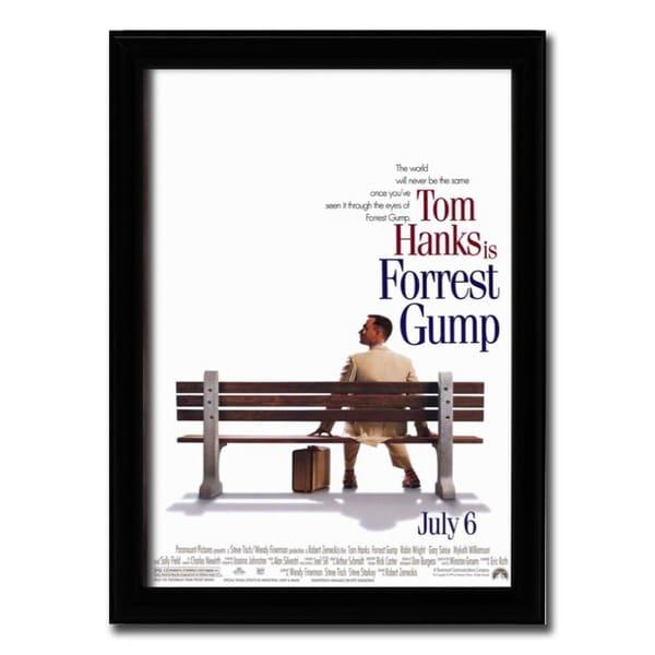 Framed Forrest Gump movie poster