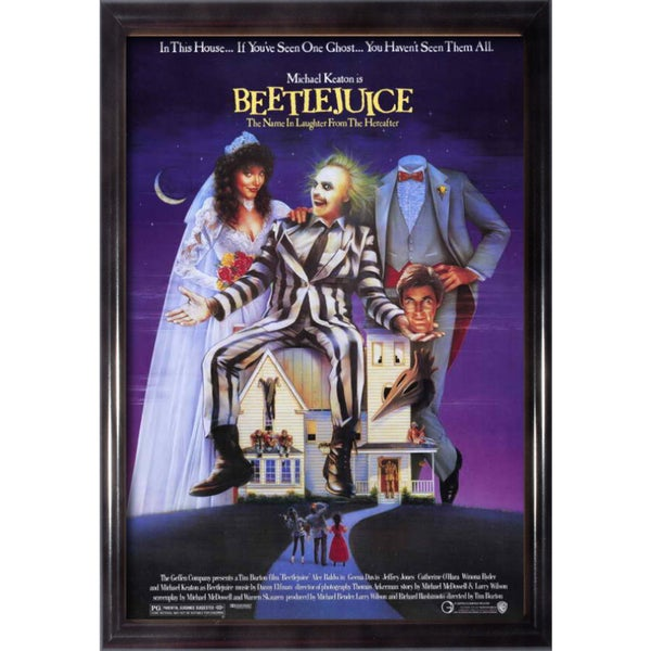 Framed Beetlejuice movie poster