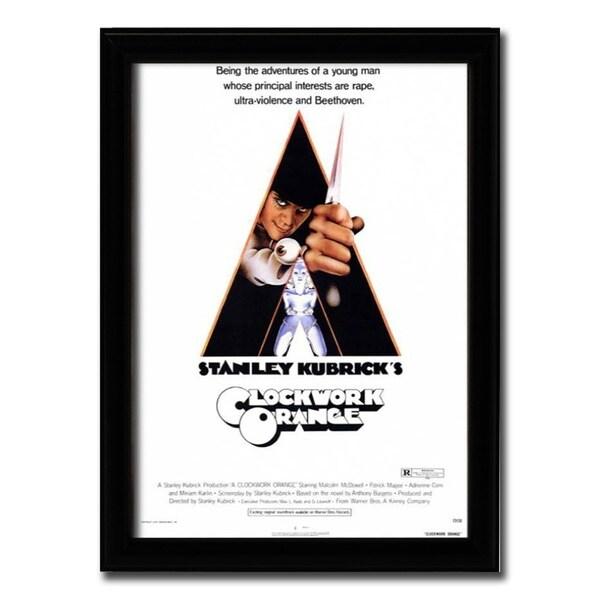 Framed Clockwork Orange movie poster