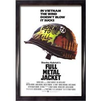 Framed Full Metal Jacket movie poster