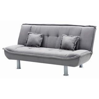 Lyke Home Suede Convertible Sofa Bed