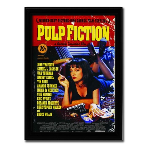 Framed Pulp Fiction movie poster