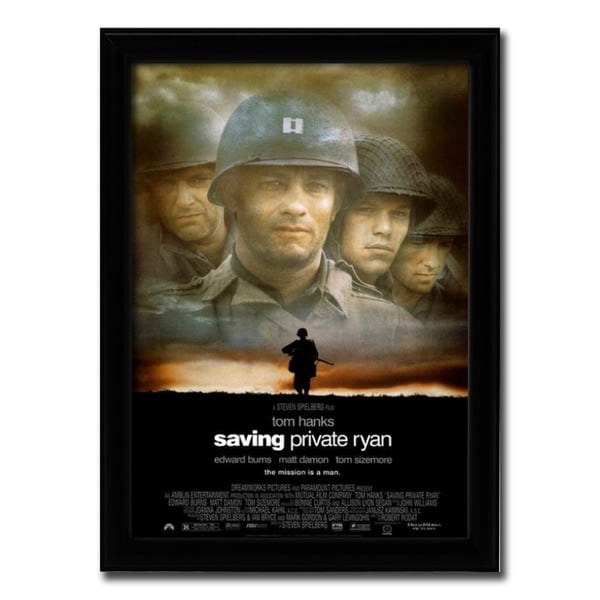 Framed Saving Private Ryan movie poster