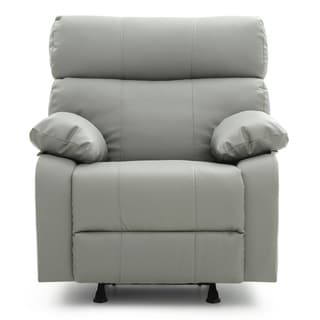 lyke home faux leather rocker recliner - Leather Rocker Recliner