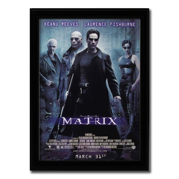 Framed The Matrix movie poster