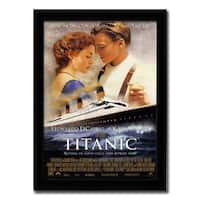 Framed Titanic movie poster