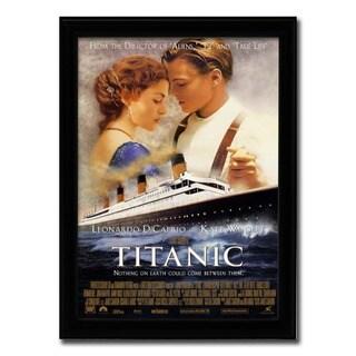 Framed Titanic movie poster