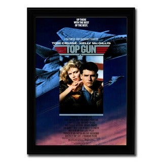 Framed Top Gun movie poster