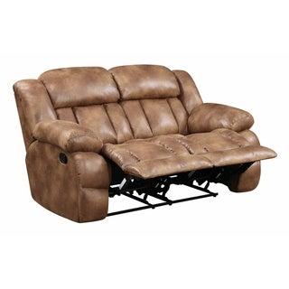 Lyke Home Faux Leather Reclining Loveseat
