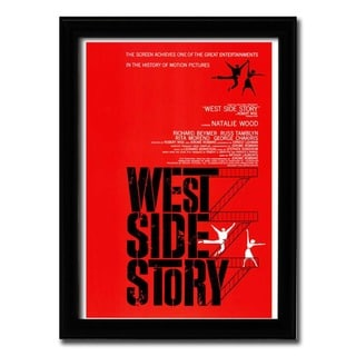 Framed West Side Story movie poster