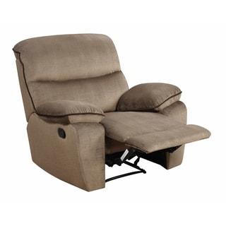 Ranger Sand Fabric Rocker Recliner Chair Free Shipping