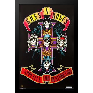 Autographed Guns N Roses Poster
