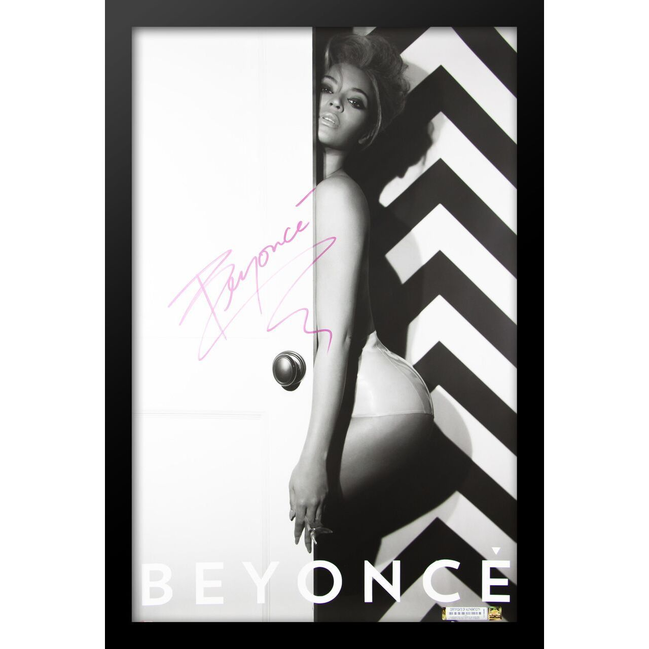 Luxe Black Wooden Autographed Beyonce Poster (LWPV1-00319...