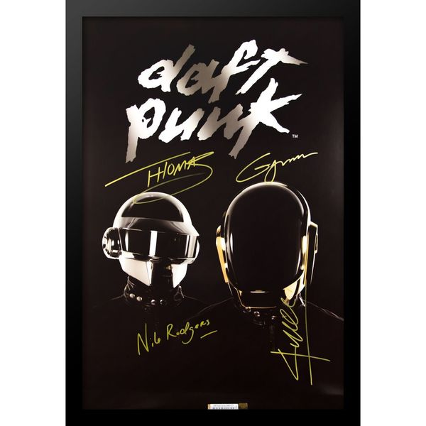 Autographed Daft Punk Poster