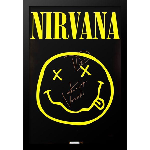 Autographed Nirvana Framed Poster
