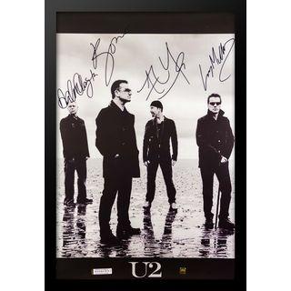 Autographed U2 Poster