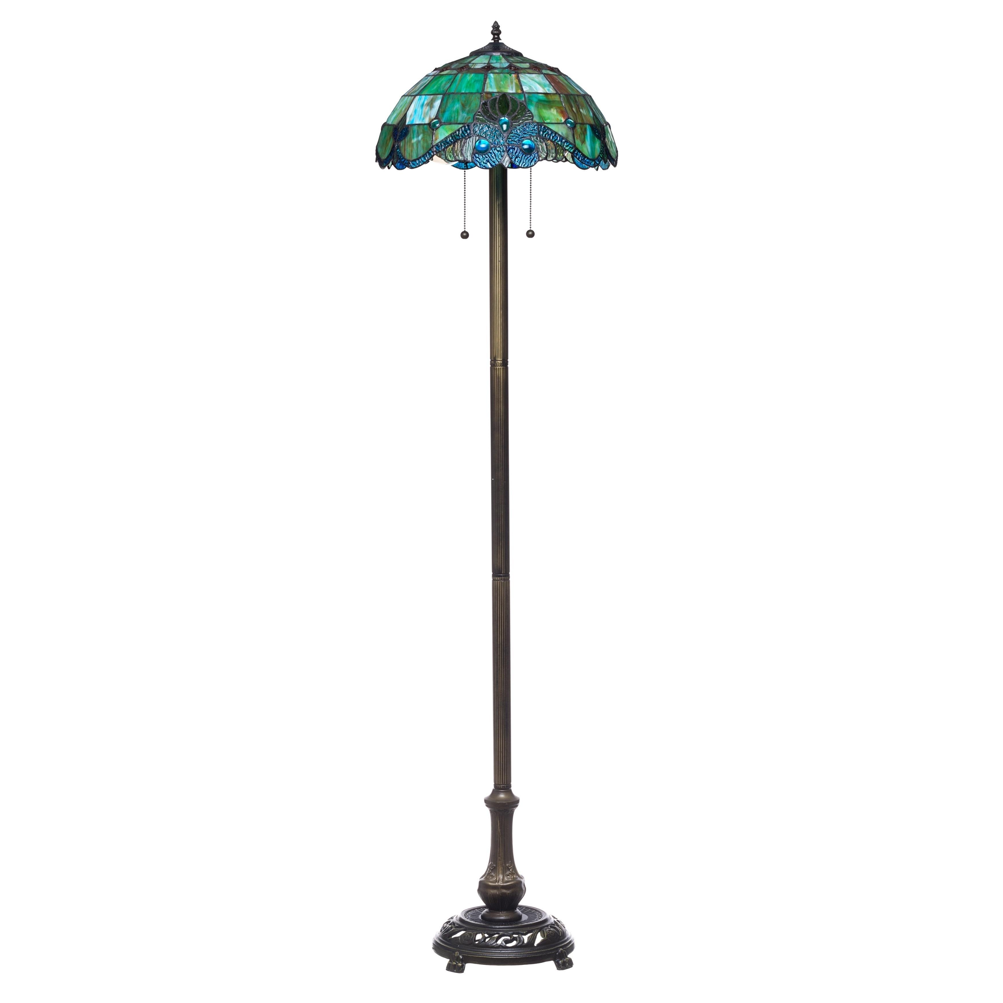 Tiffany Style Pearl Vintage Floor Lamp