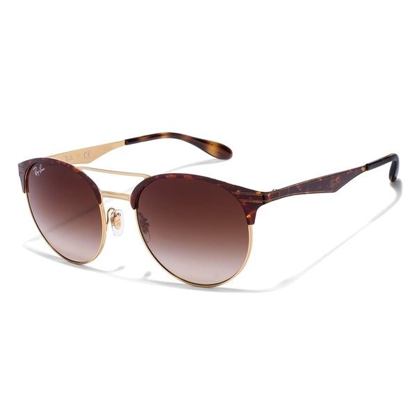 0eb79d358f7 Ray-Ban Unisex RB3545 900813 Tortoise Gold Frame Brown Gradient 54 mm Lens  Sunglasses