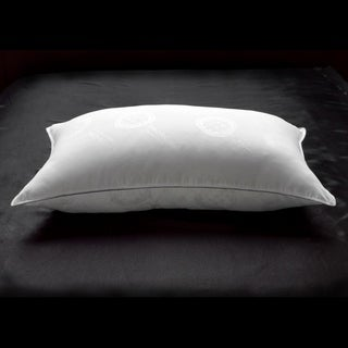 Link to Ella Jayne Penthouse Collection Allergy Free Soft White Down Stomach Sleeper Pillow with MicronOne Technology - Silver Similar Items in Pillows