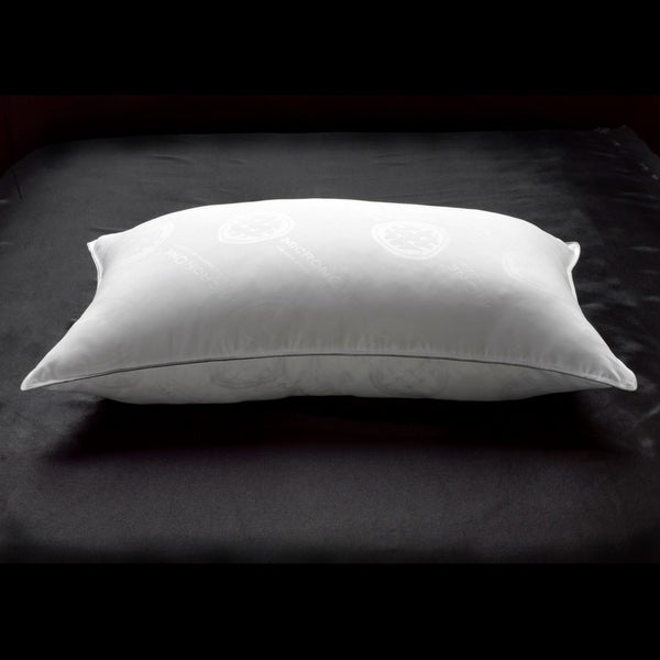 Ella Jayne Penthouse Collection Allergy Free Soft White Down Stomach Sleeper Pillow with MicronOne Technology - Silver