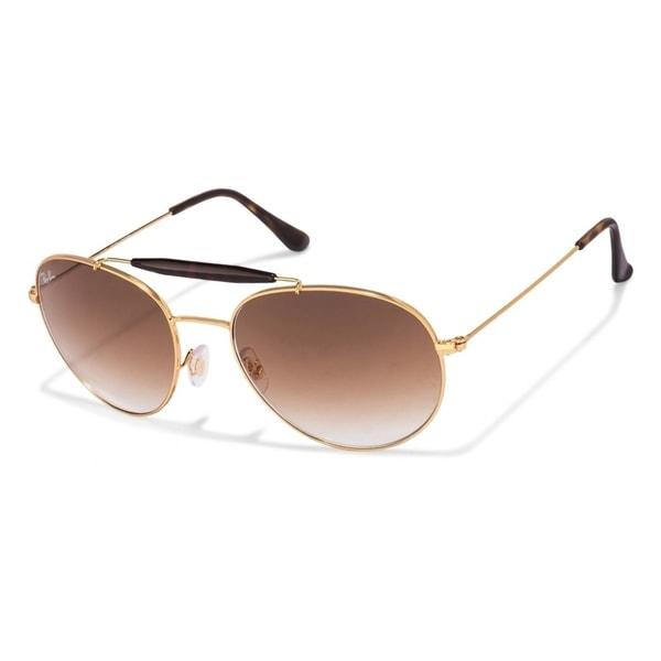 d114250e22 Ray-Ban Unisex RB3540 001 51 Gold Frame Light Brown Gradient 56mm Lens  Sunglasses