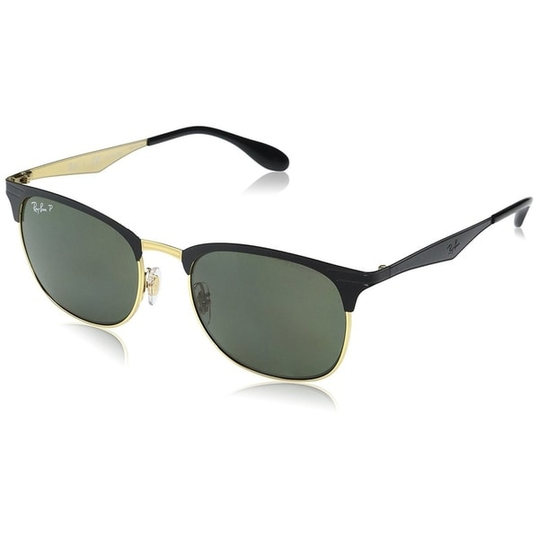Shop Ray-Ban Men s RB3538 187 9A Black Frame Polarized Green Classic ... 5427ef87fcd0