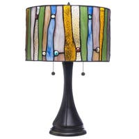 Tiffany Style Drum Contemporary Table Lamp