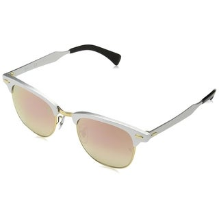 Ray-Ban Unisex RB3507 137/7O CLubmaster Silver Frame Copper Gradient Flash 51 mm Lens Sunglasses