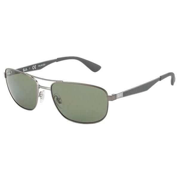 52ed611d90c Shop Ray-Ban Men s RB3528 029 9A Gunmetal Frame Polarized Green ...