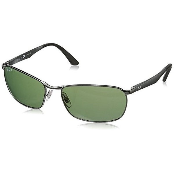 62af93ec746 Shop Ray-Ban Men s RB3534 004 Gunmetal Frame Green Classic 62 mm ...