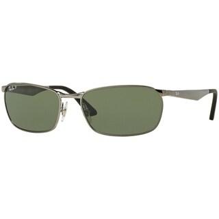 Ray-Ban Men's RB3534 004/58 Gunmetal Frame Polarized Green Classic 62 mm Lens Sunglasses