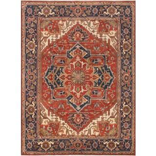 eCarpetGallery Serapi Heritage Orange Wool Hand-knotted Rug (8'9 x 11'9)