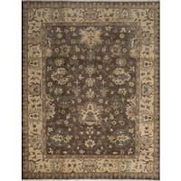 eCarpetGallery Hand-knotted Royal Ushak Green/Grey Wool Rug - 9'1 x 11'6